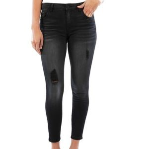 Connie Ripped High Rise Ankle Skinny Jean